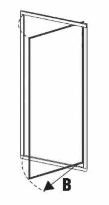 Produktbild: Duschflügeltüre  Kunstglas Breite 70 cm x Höhe1850 cm Profile weiss